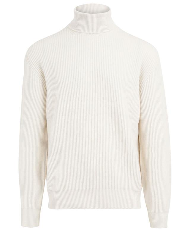 Turtleneck virgin wool, cashmere and silk jumper BRUNELLO CUCINELLI