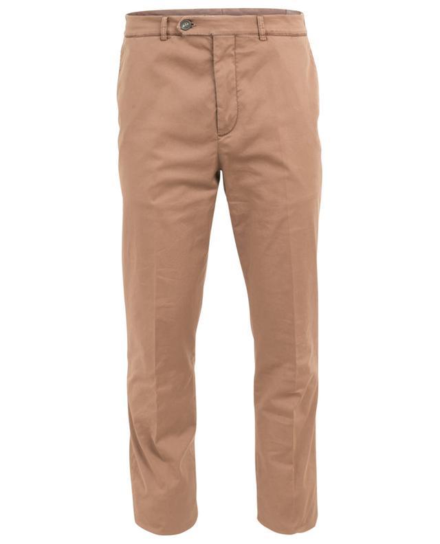 Cotton blend straight chino trousers BRUNELLO CUCINELLI