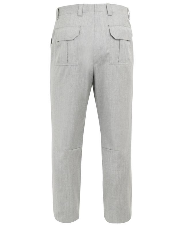 Pantalon en laine vierge avec plis BRUNELLO CUCINELLI