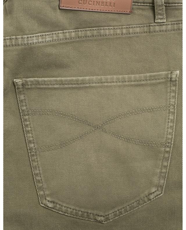 Cotton blend straight trousers BRUNELLO CUCINELLI