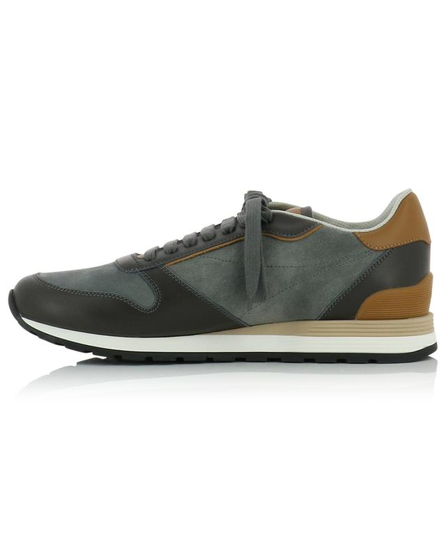 Low-top suede and leather sneakers BRUNELLO CUCINELLI