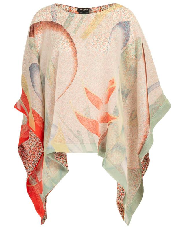 Print silk poncho ETRO