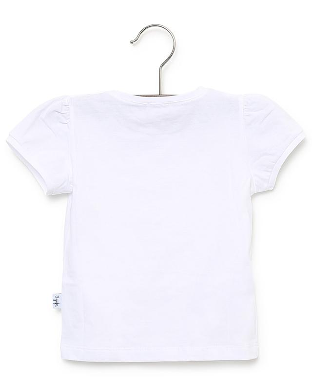 T-Shirt aus Jersey mit Blütenapplikationen IL GUFO