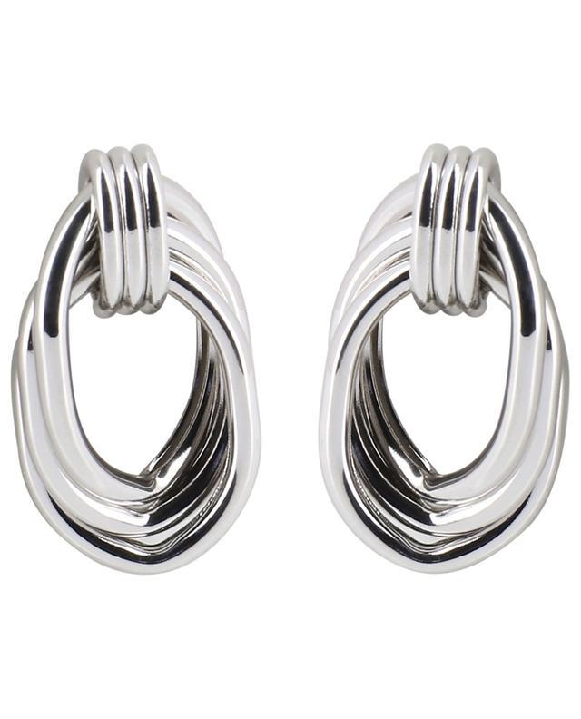 Silver knot effect stud earrings MOON C° PARIS