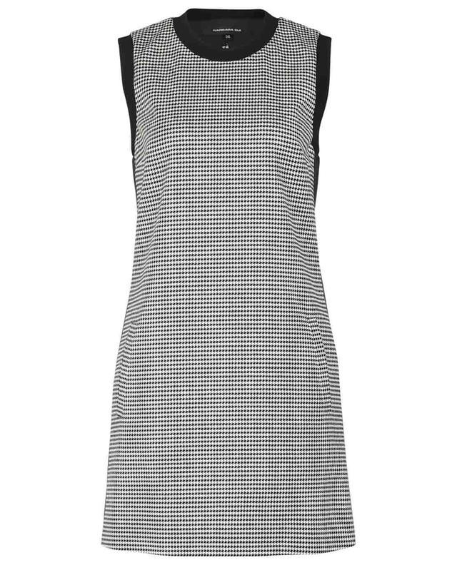 Robe sans manches imprimée pied-de-poule BARBARA BUI