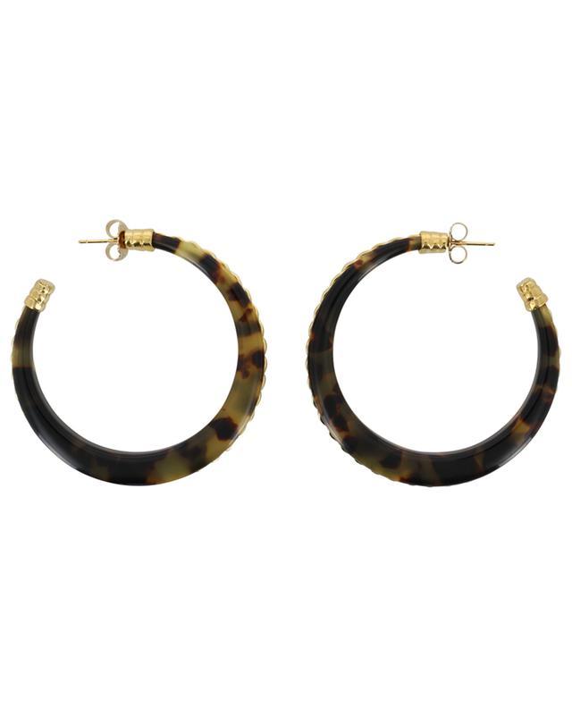 Caftan Torsade PM acetate hoop earrings GAS BIJOUX