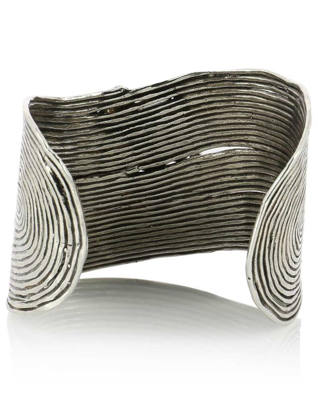 Wave Strass silver cuff with crystals GAS BIJOUX