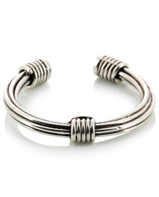 Ariane Strass open silver ring GAS BIJOUX