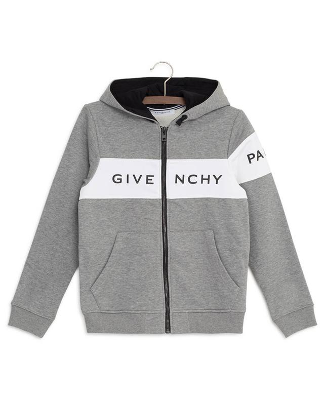 Logo Stripe hooded zippered sweat jacket GIVENCHY