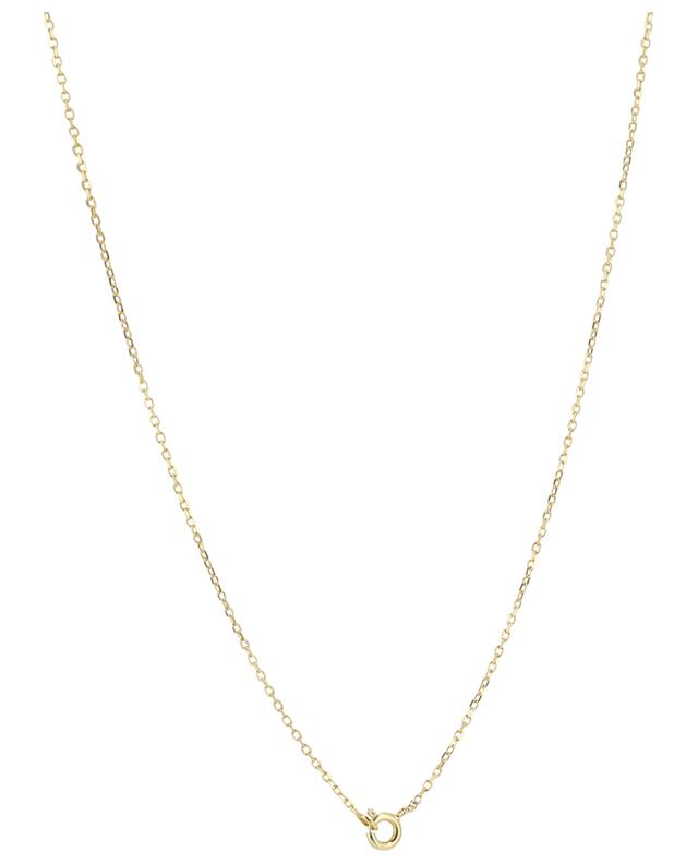 Clovis golden necklace with leaf pendant MONSIEUR PARIS