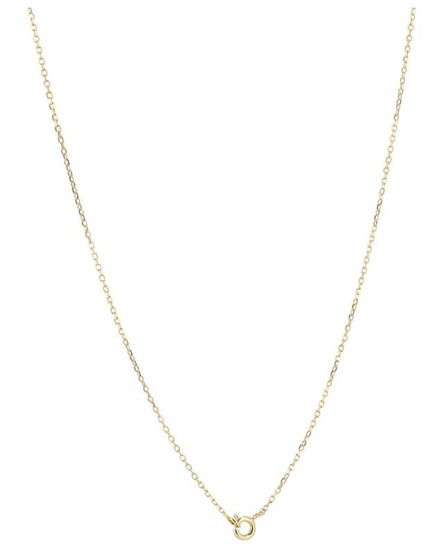 Collier doré pendentif feuilles Clovis MONSIEUR PARIS