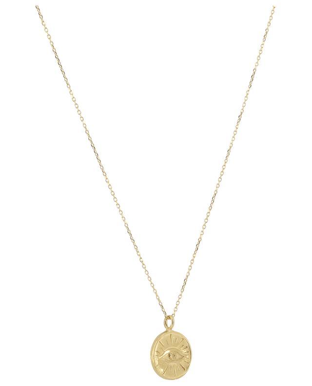Joseph golden necklace with eye pendant MONSIEUR PARIS
