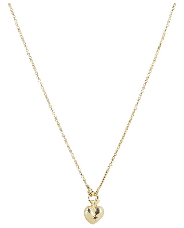 Valentin Rubis golden necklace with heart pendant MONSIEUR PARIS