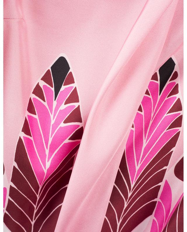 Top en sergé de soie imprimé plumes Pop Feathers VALENTINO