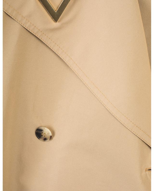 Trench en coton mélangé détail cuir VALENTINO
