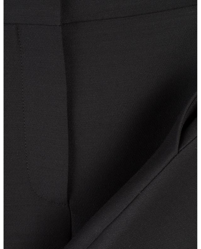 Pantalon large en laine vierge et soie VALENTINO