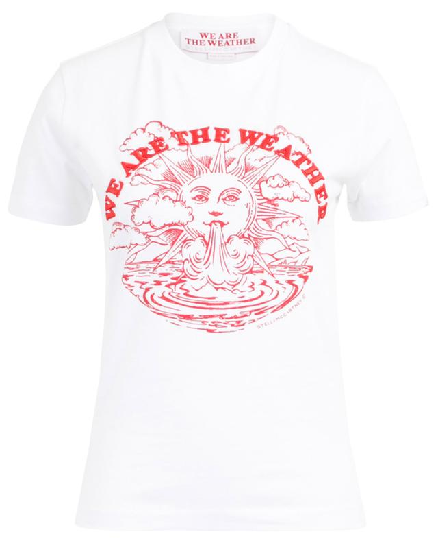 Bedrucktes T-Shirt aus Baumwolle We are the weather STELLA MCCARTNEY