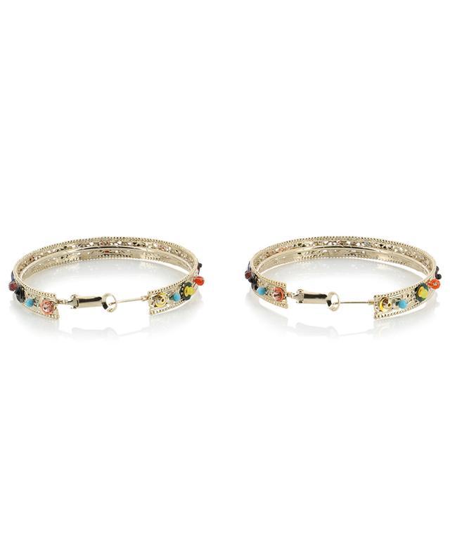 Grandes créoles embellies de perles Linda SATELLITE