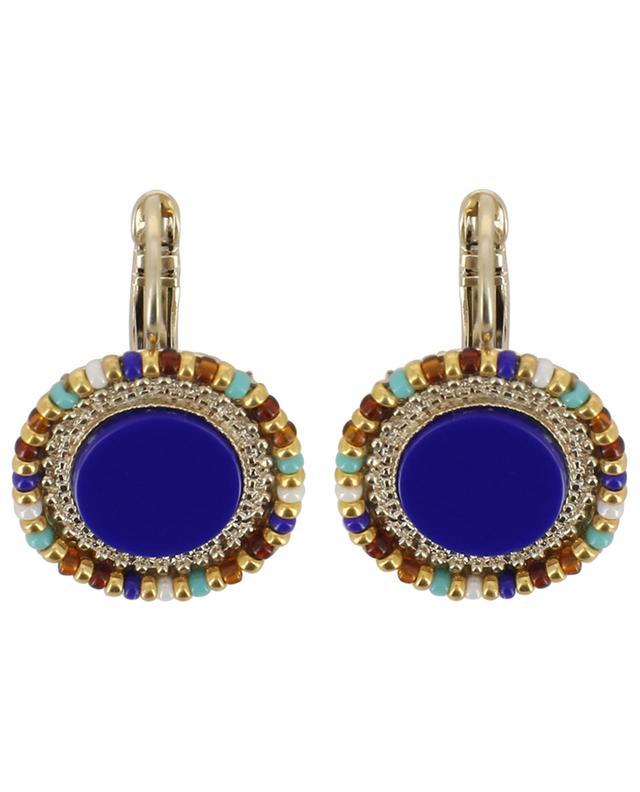 Boucles d'oreilles ornées de lapis-lazuli Claudia SATELLITE