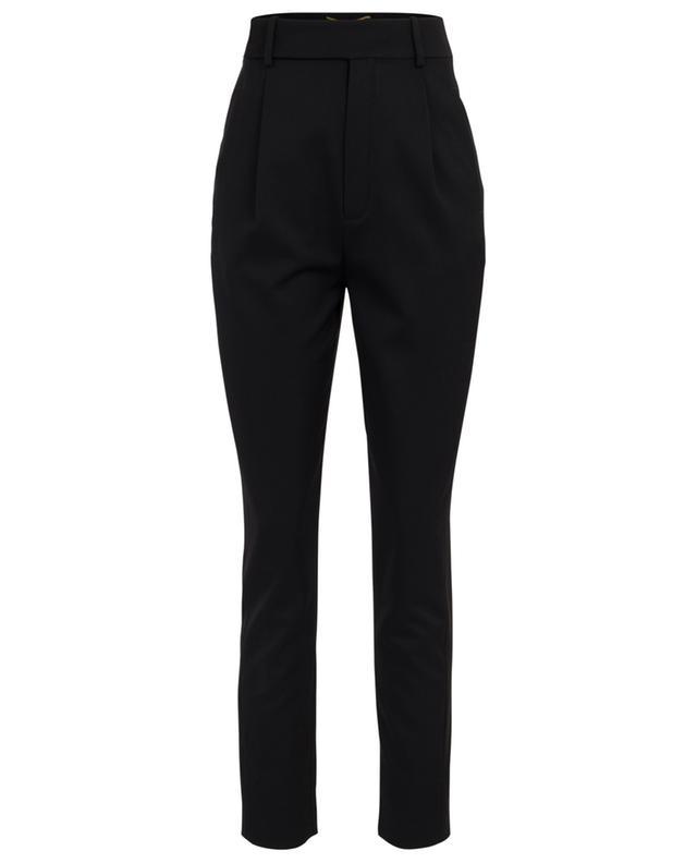 Wool twill high-rise trousers SAINT LAURENT PARIS