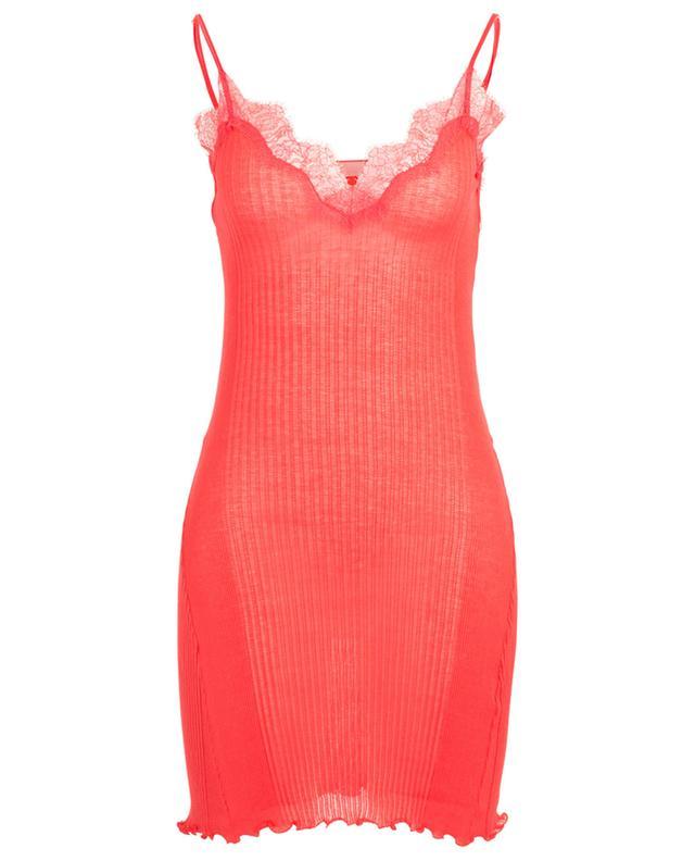 207 Richelieu Fashion ribbed babydoll with lace ZIMMERLI