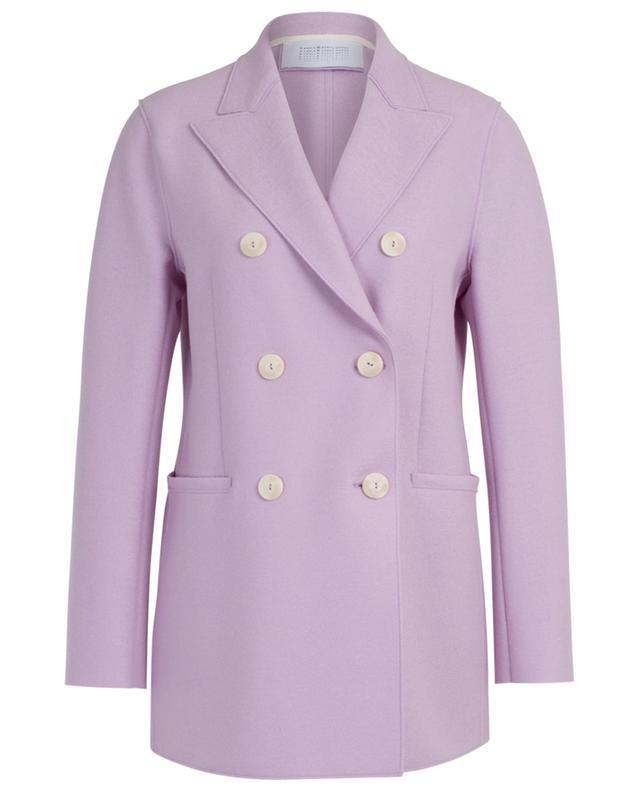Manteau court en laine vierge à boutonnière simple HARRIS WHARF