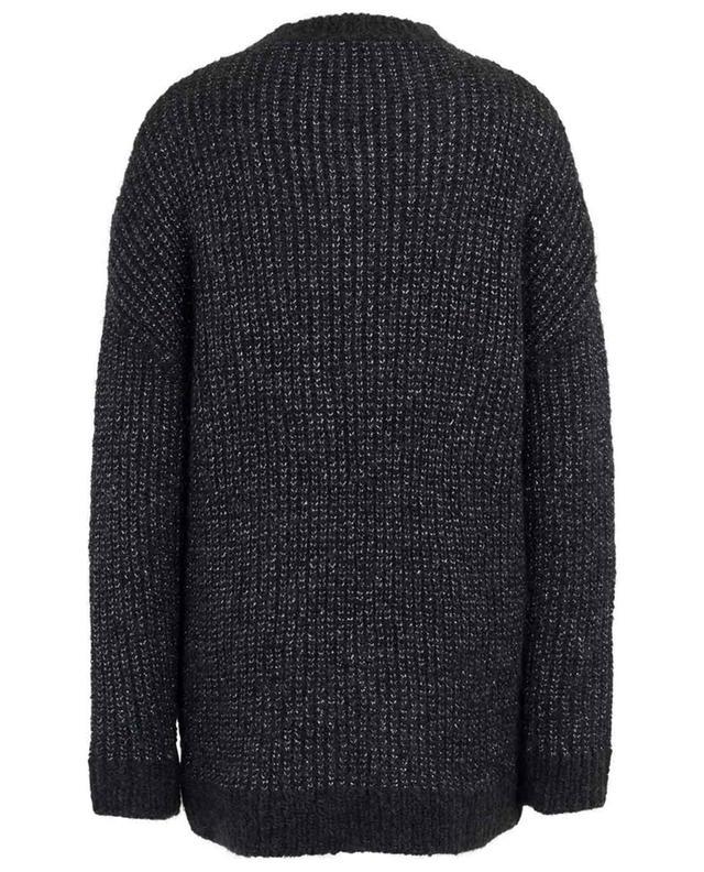 Mohair and wool blend knit jumper with metallic details SAINT LAURENT PARIS