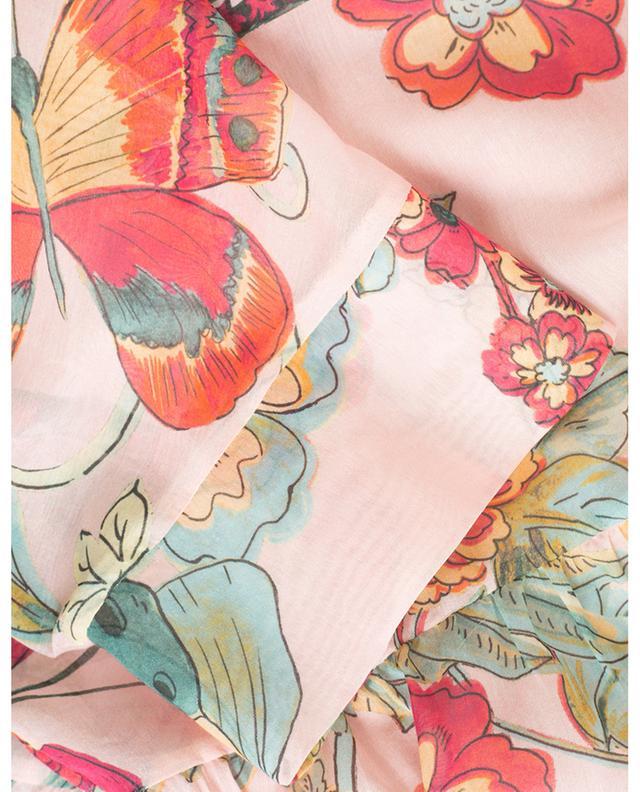 Blouse transparente en coton et soie Bird of Paradise RED VALENTINO