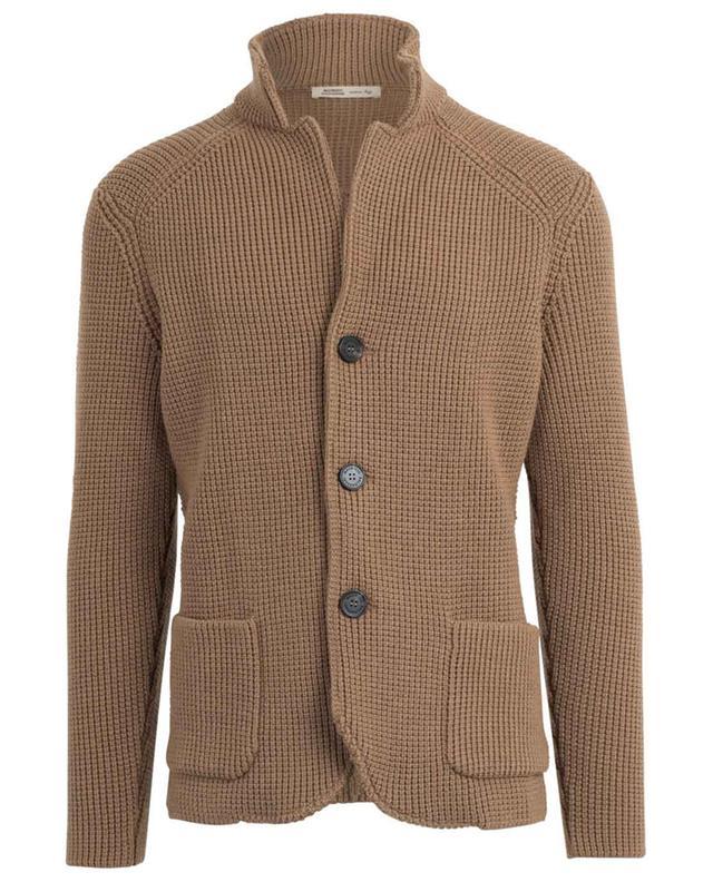 Cardigan tricot en laine vierge MAURIZIO BALDASSARI