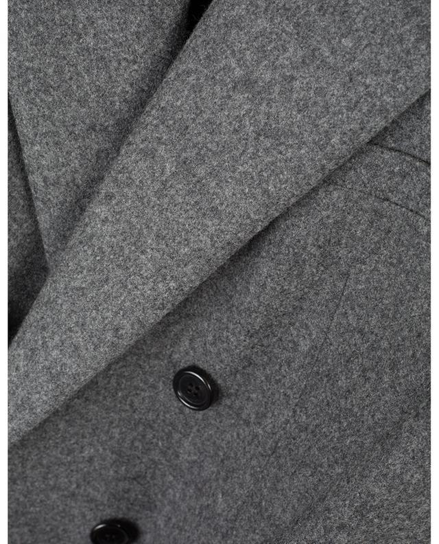 Blazer à double-boutonnière en flanelle de laine SAINT LAURENT PARIS
