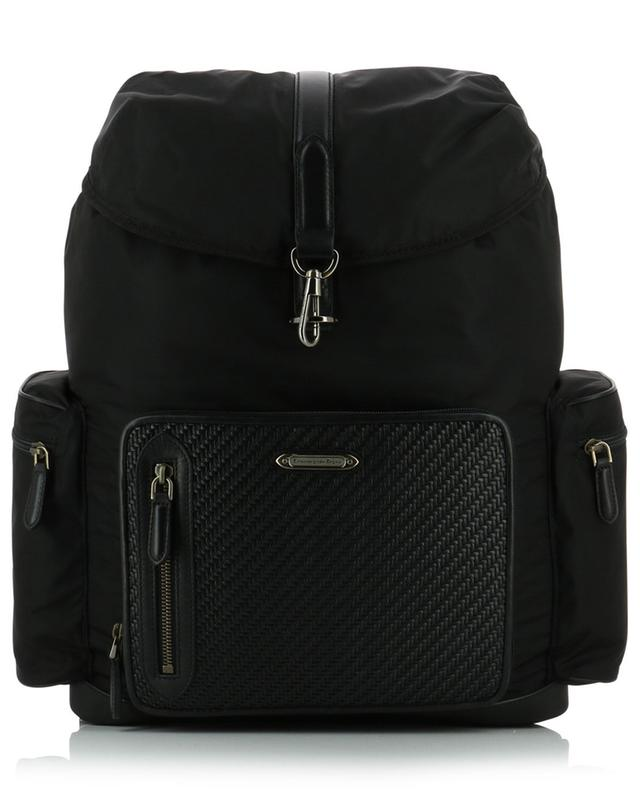 Braided leather and nylon backpack Z ZEGNA
