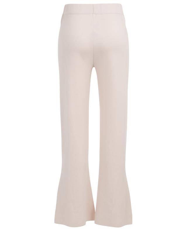 Pantalon évasé en maille avec fentes ALLUDE