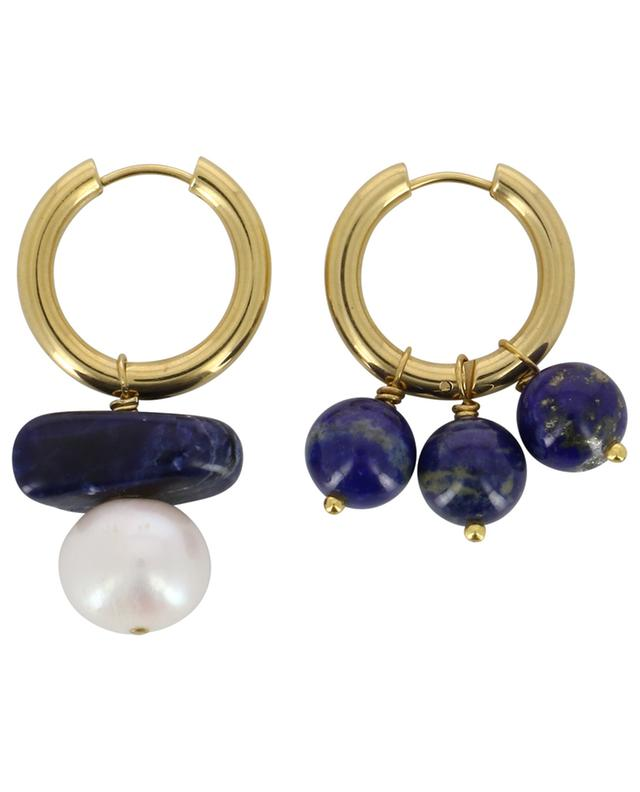Créoles dorées avec perles d'eau douce et pierres TIMELESS PEARLY