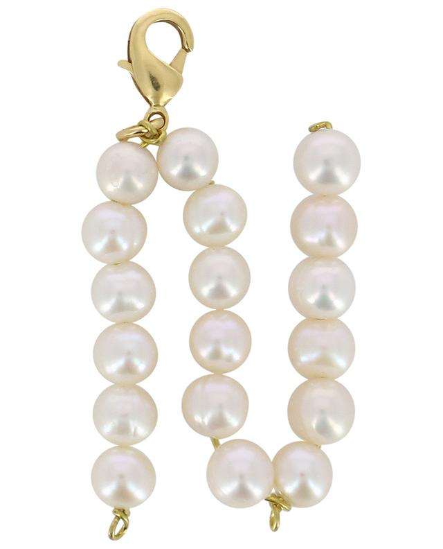 Alpha N golden pendant with freshwater pearls TIMELESS PEARLY