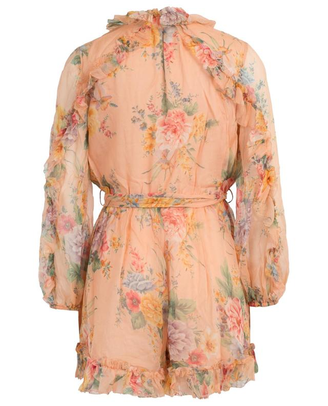 Zinnia floral print silk rompers ZIMMERMANN