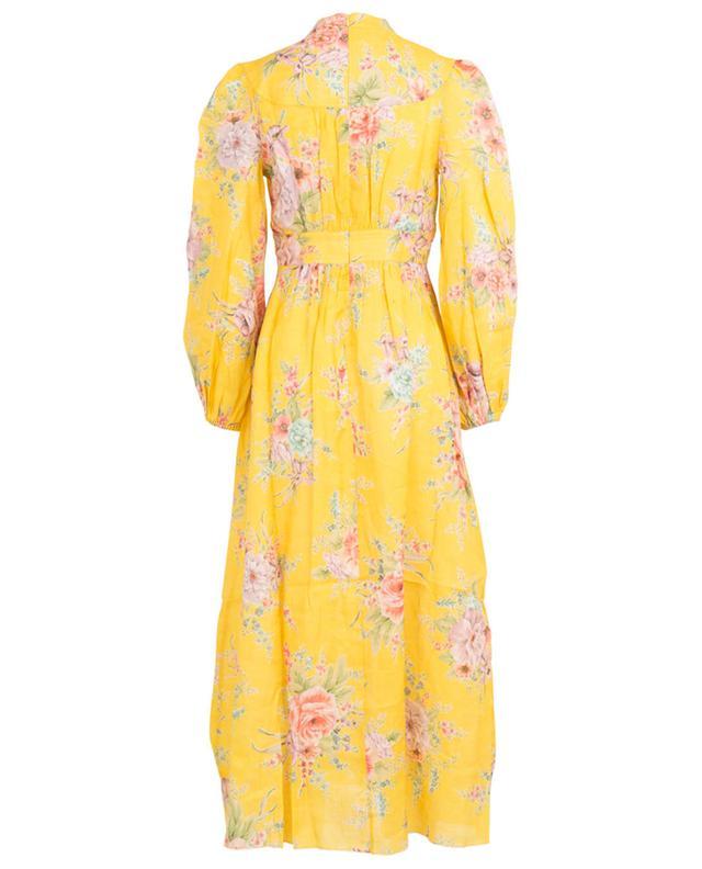 Robe longue fleurie boutonnée Zinnia Golden Floral ZIMMERMANN