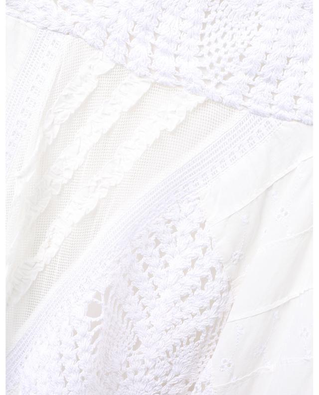 Lace embellished asymmetrical strappy midi dress TWINSET