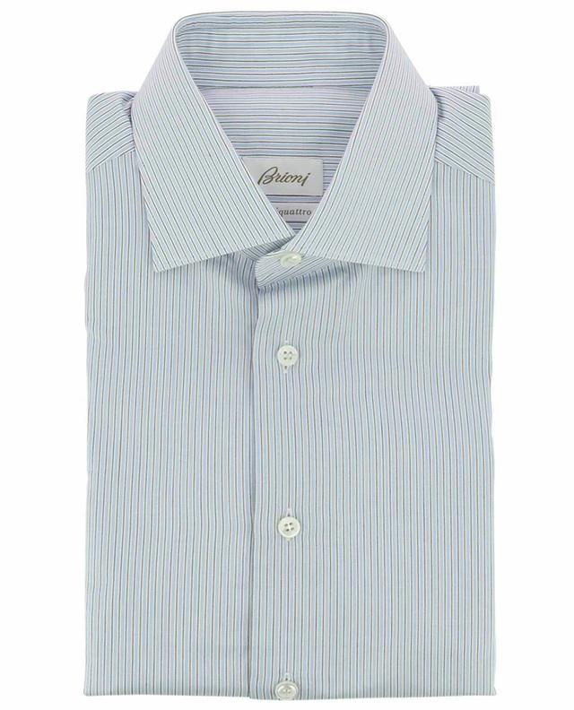Blue striped cotton shirt BRIONI
