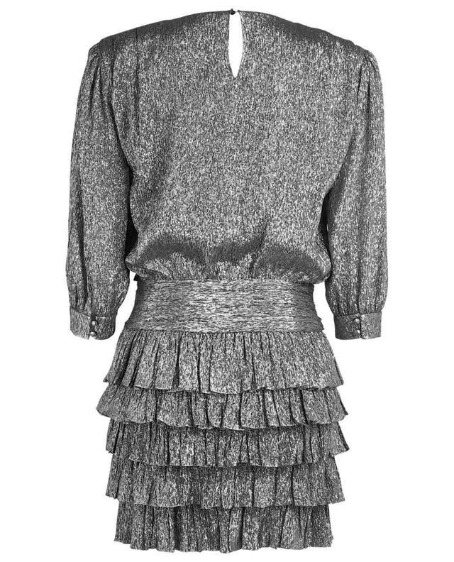 Mini robe en soie métallisée SAINT LAURENT PARIS