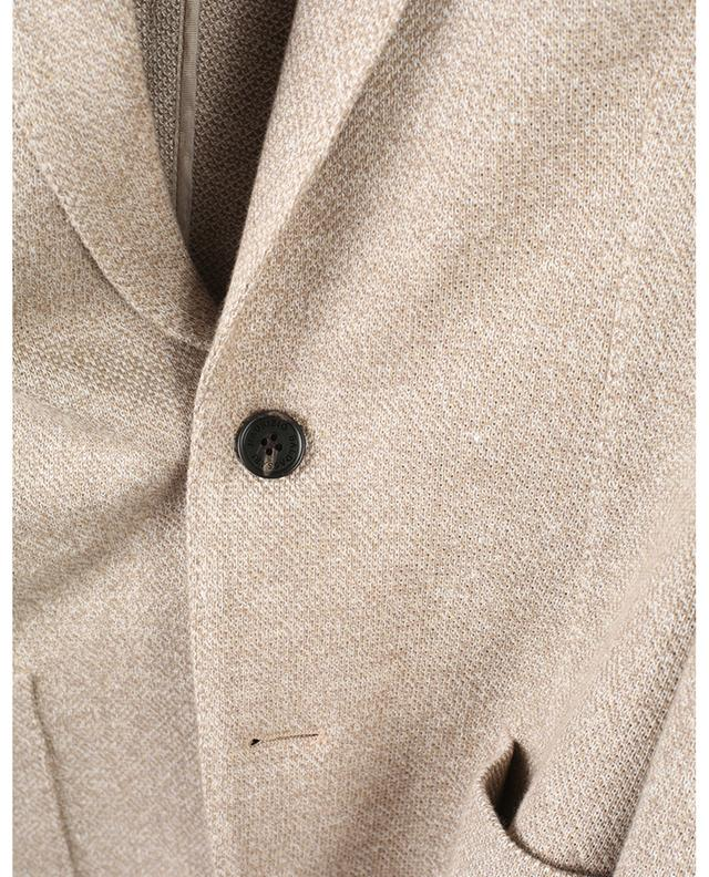 Blazer en lin et coton texturés MAURIZIO BALDASSARI