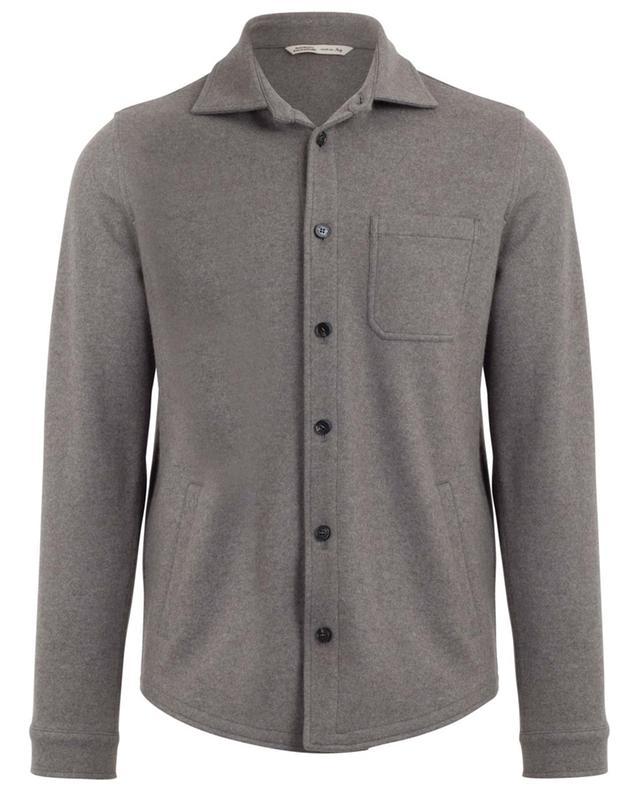 Cashmere shirt effect cardigan MAURIZIO BALDASSARI