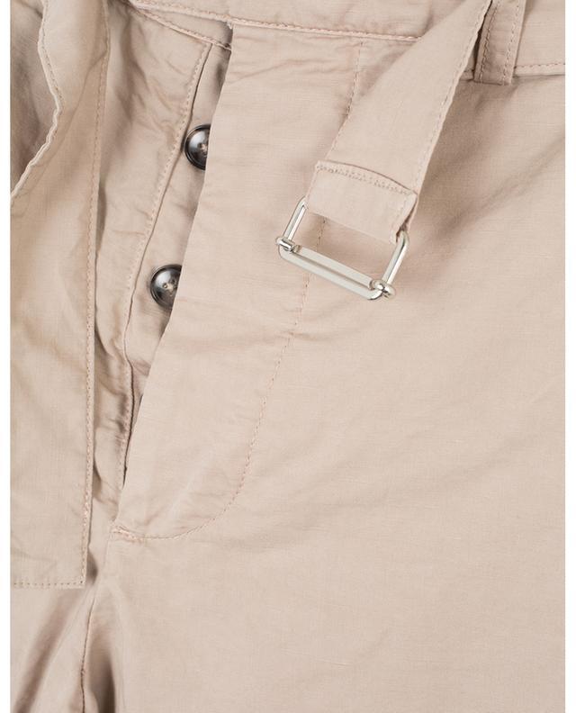 Bermuda en coton et lin avec ceinture Julian OFFICINE GENERALE
