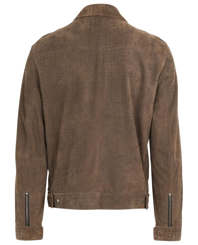 Suede bomber jacket with ethnical patterns ETRO
