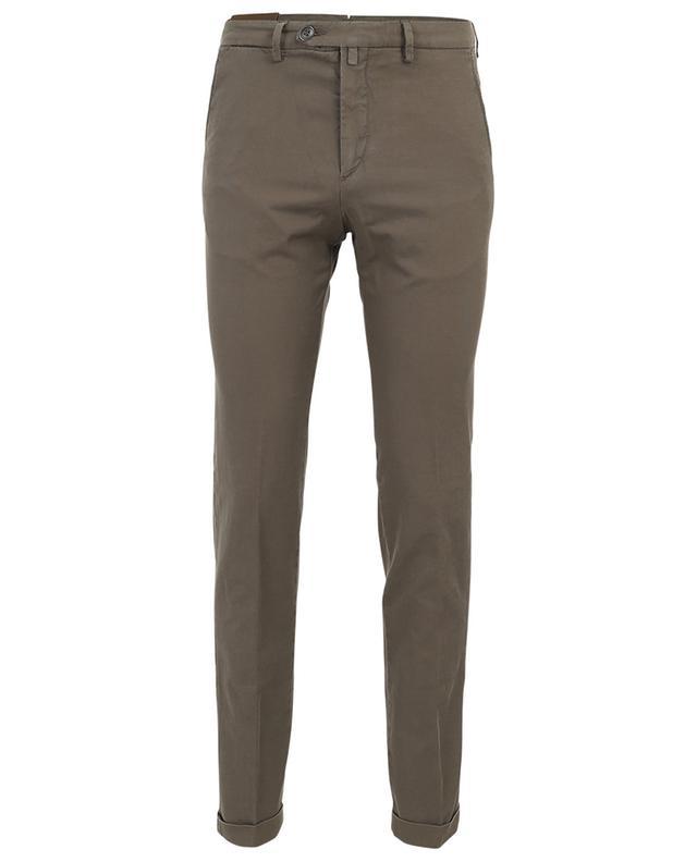 Pantalon slim en coton et lin mélangés B SETTECENTO