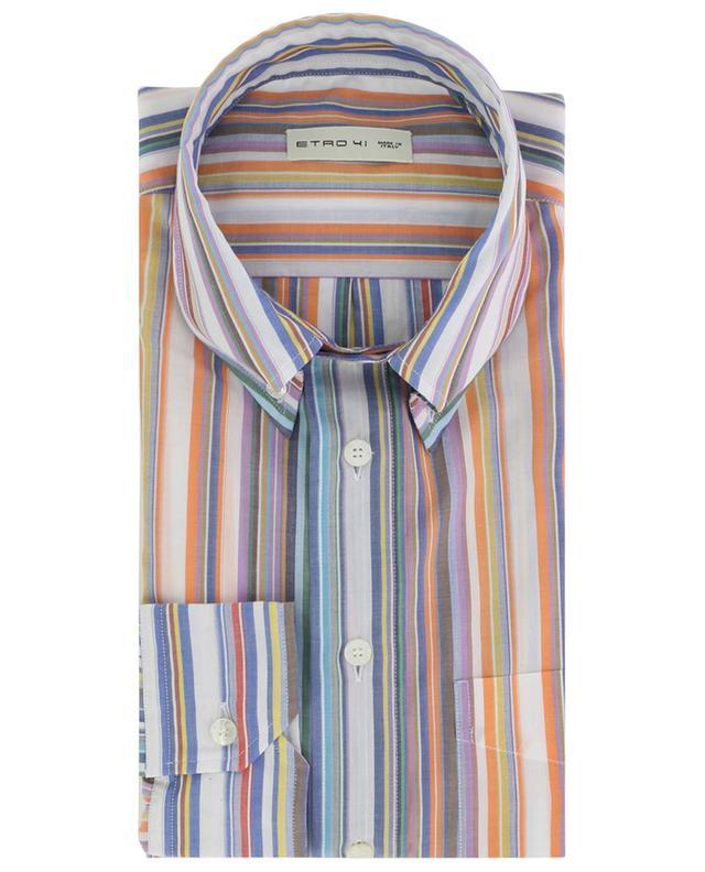 Langärmliges gestreiftes Hemd aus Baumwolle ETRO