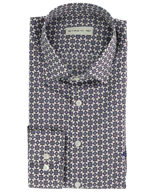 Mosaic print cotton shirt ETRO