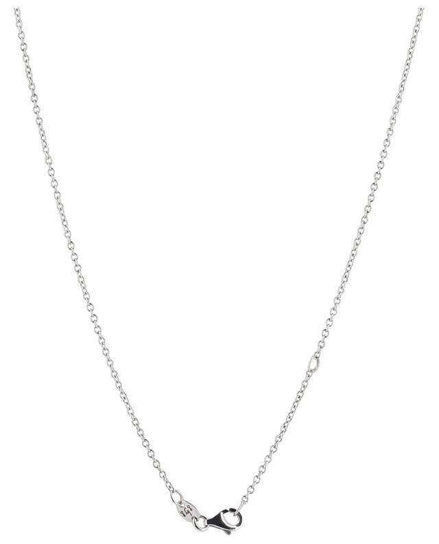 Collier en or blanc orné de gouttes en saphir et de diamants GBYG