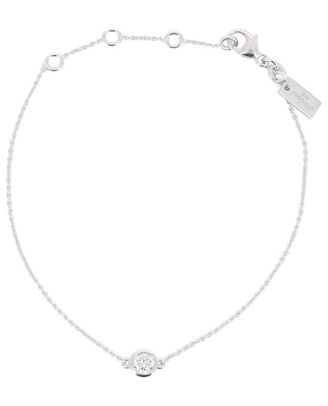Bracelet en argent rhodié avec circon Taille Ronde AVINAS