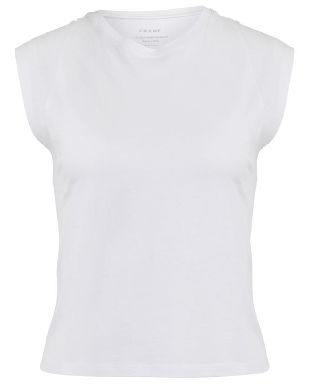 T-shirt sans manches en coton Le High Rise Muscle FRAME