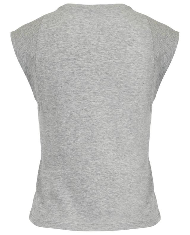 Le High Rise Muscle sleeveless cotton T-shirt FRAME